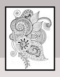 printable zentangle coloring page for adults mindfulness coloring