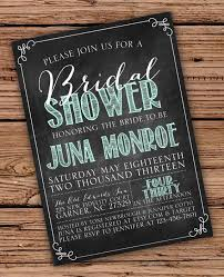 chalkboard bridal shower invitations chalkboard bridal shower