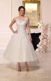 tea length tulle wedding dress stella york wedding dresses