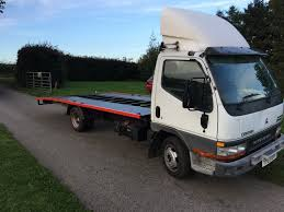 mitsubishi canter 3 0d recovery truck 17ft beavertail body 3 5ton