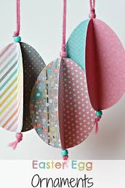 easter egg ornaments easter egg ornament craft easy to make from paper and
