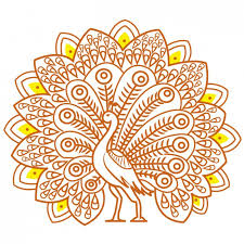 indian ornamental turkey vector free
