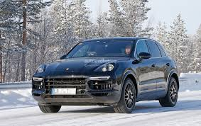 2018 porsche cayenne spied once more enjoying the last bits of