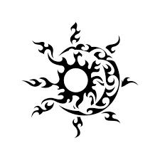 tribal sun moon graphics design svg dxf by vectordesign on zibbet