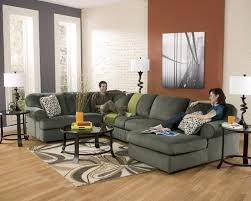 Livingroom Gg Signature Design By Ashley Jessa Place Pewter Casual Sectional