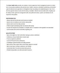 Sample Resume For Health Care Aide by Sample Home Health Aide Resume 7 Examples In Word Pdf