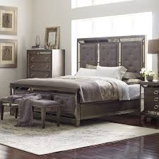 Mirrored Furniture Bedroom Set Avalon Furniture Lenox Upholstered Panel Bed Hayneedle