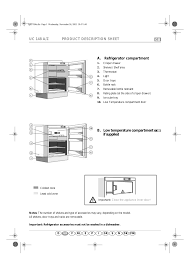 uc 148 a z product description sheet gb a refrigerator