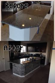 powell kitchen islands stone veneers on kitchen island my home pinterest stone