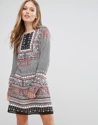 moda boho vero moda vero moda boho print shift dress