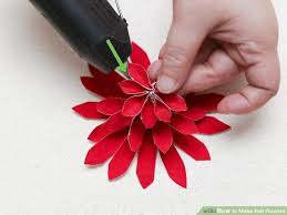 felt flowers 5 ways to make felt flowers wikihow