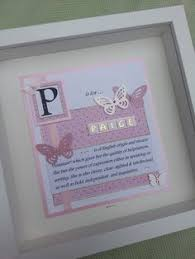 9 x 9 pink butterfly themed name meaning frame can do any name