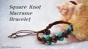 macrame bracelet with beads images Square knot macrame bead bracelet tutorial jpg