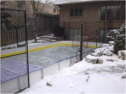 backyards trendy backyard roller hockey rink backyard ideas