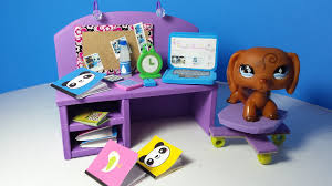Diy Desk Accessories by Diy Lps Doll Computer Desk Plus Accessories Alarm Clock