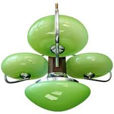 green glass l shade antique french art deco opaline green glass shades four light chrome