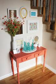 entry table ideas turquoise entry table
