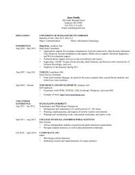 Resume Objective For Undergraduate Student Information Technology Resume Objective Resume For Your Job