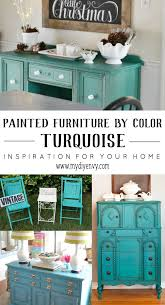 Home Decor By Color Chalk Painted Furniture By Color Turquoise Chalk Paint