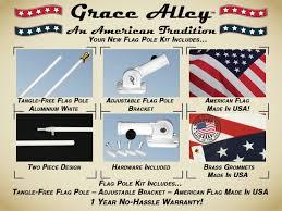Seasonal Designs Flag Pole Amazon Com Flag Pole Kit Tangle Free Flag Pole Kit Includes Us