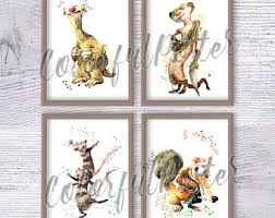 ice age poster etsy