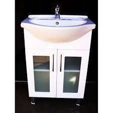 Recessed Bathroom Vanity by Selene L550 550mm Semi Recessed Bathroom Vanity Unit Glass Door