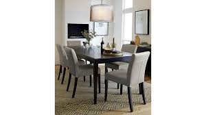 Lowe Pewter Leather Dining Chair Crate And Barrel - Barrel kitchen table