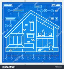 house blueprint scheme vector stock vector 373940656 shutterstock