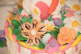 Easter Cake Edible Decorations by My Granddaughters First Easter Cake Cakecentral Com