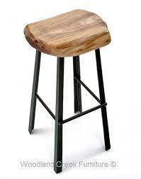 rustic industrial bar stools modern bar stool with live edge slab natural wood organic