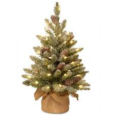 small artificial christmas trees buy national tree pre lit 239 snowy concolor fir small small
