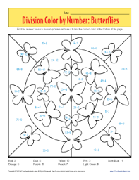math coloring pages division color by number butterflies printable division worksheets