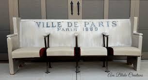 Church Pew Home Decor Ava Blake Creations Church Pew To Paris New