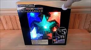 5 lighted led morphing pathway marker lights