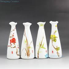 Porcelain Flower Vases Rzea01 J Hand Paint Herbal Pattern Cute Flower Vases Jingdezhen