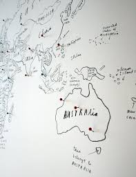 World Map Pins by World Map With Pins Oliver Jeffers Store