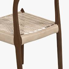 3d dwr moller model 78 side chair cgtrader