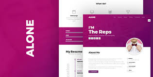 Resume About Me Alone Personal Resume Cv Portfolio Html Template By Robbeelabs