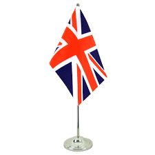 Great Britain Flag Satin Table Flag Great Britain 6x9