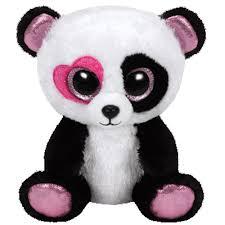 ty beanie boos mandy panda glitter eyes regular size 6