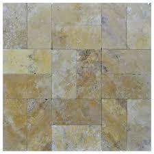 gold tumbled travertine pavers 6x12 natural stone pavers