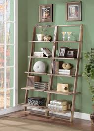 Ladder Bookcase White by Inviting White Gray Living Room Idea Comes With Ladder Bookshelves