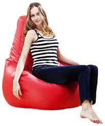 xxl large gamer beanbag chair seat leather bean bag bags