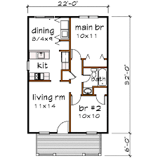 bungalow 2 beds 1 baths 704 sq ft plan 79 102 main floor plan