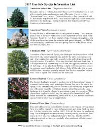 tree sale species list u2013 in color u2013 elkhart county soil and water