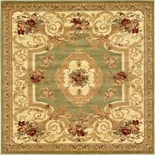 6x6 Rug Oriental Large Area Rug Square Traditional Country Round Carpet