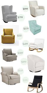 Luxury Rocking Chair Luxury Baby Glider Chair For Small Home Decoration Ideas With