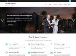 clean corporate u2014 free wordpress themes