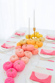 incorporating hues of pink and yellow into the thanksgiving