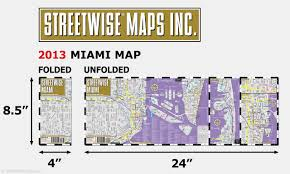 streetwise miami map laminated city center street map of miami